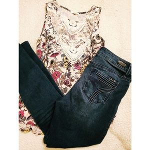 Maurices| Women's Lacy Overlay Floral Tank